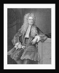 Engraved Portrait of Sir Isaac Newton by Corbis