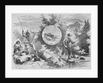 Elaborate Depiction of Caucasian and Native American Fishermen by Corbis