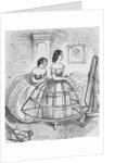 Woman Adjusting Hoop Skirt by Corbis