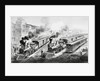 American Railroad Scene: Lightning Express Trains Leaving the Junction by Currier & Ives