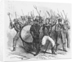 19th-Century Woodcut of Rioters During the Louisville Bloody Monday Riots by Corbis
