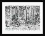 16th-Century Print of Iconoclasts Destroying a Church by Corbis