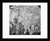 Old Lantern Slide of Abe Lincoln Speaking on Podium by Corbis