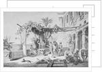 Emperor Tiberius Lounging by Corbis