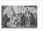 Illustration of Men Selling Books in Germany by Corbis