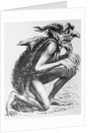 Early Illustration of Devil in a Stooping Position by Corbis