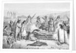 Illustration of Early Native Americans Burial Rites by Corbis