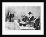 Lawyers Falling Asleep Before Judge by Corbis