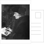 Desidarius Erasmus Writing At Desk by Corbis