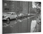 Cars on Flooded Street in New York City by Corbis