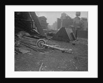 Crash Metal Strewn on Building Site by Corbis