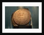 Aztec Carved Calendar Stone by Corbis