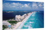 Cancun Beach and Hotels by Corbis