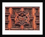 Carved Door Panel at Church of San Juan de Dios by Corbis