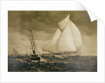 Painting of Yachting Race by Corbis