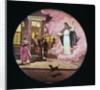 Christ Guiding Drunk Man Leaving Tavern by Corbis