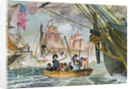 Oliver Perry During Battle of Lake Erie by Corbis