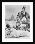 Political Cartoon of Uncle Sam and the Boss Thief by Corbis