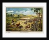 Painting of a Cattle Herder by Corbis