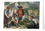 California Gold Diggers Illustration by Corbis