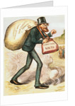 The Man with the (Carpet) Bags by Thomas Nast