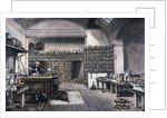 British Chemist Michael Faraday in His Physics Laboratory by Corbis