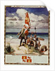Illustration of Christopher Columbus and His Men Arriving on the Shores of America by Corbis