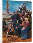 Jewish Immigrants on Ship near Statue of Liberty by Corbis