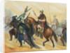 Hannibal and His Men Crossing Terrain for Battle by Corbis
