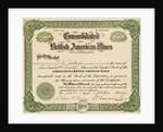 British American Mines Certificate by Corbis