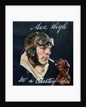 Aviator Smoking Chesterfield Cigarette by Corbis