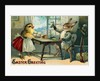 Easter Greeting Postcard Depicting a Rabbit and a Chick by Corbis