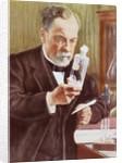 Detail of Louis Pasteur in His Laboratory by Albert Edelfelt