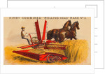 Farmer Driving Reaping Machine by Corbis
