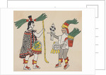 Illustration of Yacatecuhtli and Tezcatlipoca by Corbis