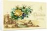 Christmas Card with a Bouquet of Flowers and a Pastoral Setting by Corbis