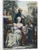 King Louis XVI with Marie Antoinette and Family by Corbis