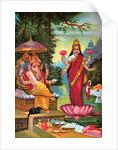 Hindu God Ganesha with Hindu Goddess Lakshmi by Corbis