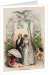 Cartoon on President Grover Cleveland's Political Marriage by Corbis