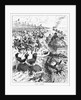 Print of People Running from Garbage at Coney Island by Corbis