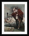 Cartoon of a Cow Vaccinating a Child by Corbis