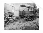 Trucks Abandoned on Street Curb by Corbis