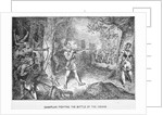 Champlain Fighting Indians by Corbis