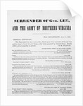 Correspondence Regarding the Surrender of General Robert E. Lee by Corbis