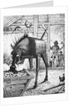 Illusional Depiction of Monopolizing Iron Horse Controlling Farmers by Corbis