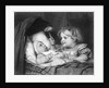 Girl Waving Rattle at Infant by Corbis