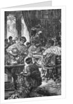 Engraving of a Roman Banquet by Corbis