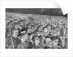 Illustration of Massive Crowd During July Fourth Ceremonies by Corbis