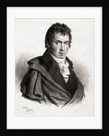 Portrait of Beethoven in Overcoat by Corbis