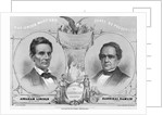 Election Poster with Abraham Lincoln and Hannibal Hamlin by Corbis
